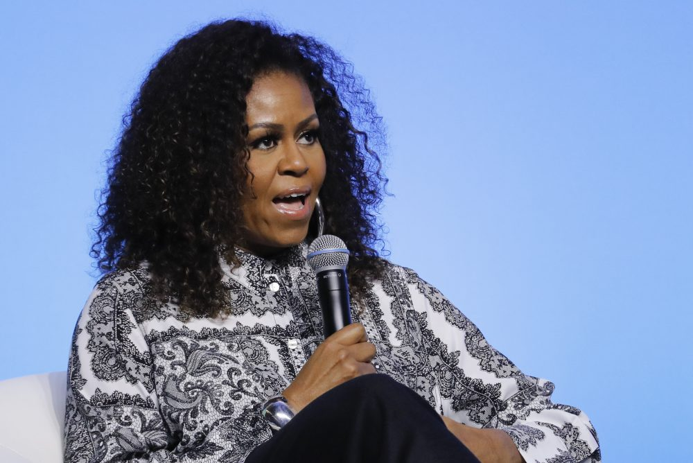 A voter advocacy group led by Michelle Obama announced support Monday for making it easier for people to register to vote and cast ballots during the coronavirus pandemic.