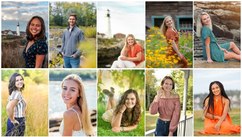 Winthrop High School has announced its top 10 seniors for the class of 2020. Top from left are Gabrielle Blanco, Ian Dow, Samantha Allen, Sara Condon and Alexis Emery. Bottom from left are Madeline Fenlason, Natalie Frost, Nikki MacDonald, Natalie Rogers and Aaliyah Wilson-Falcone.