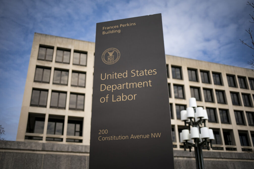 The U.S. Department of Labor headquarters in Washington, D.C., on March 18.