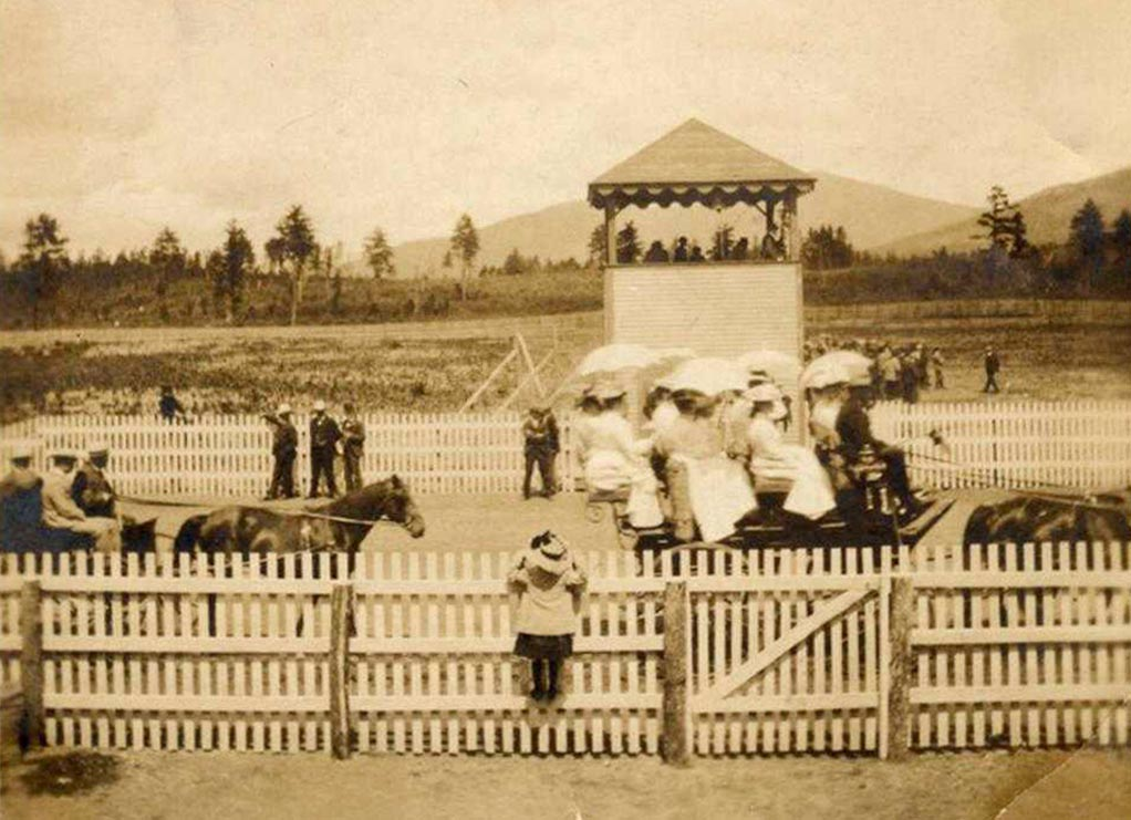 A parade at the West Oxford Agricultural Society fair, ca. 1880