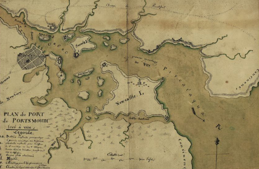 Map of Portsmouth Harbor dated around 1782