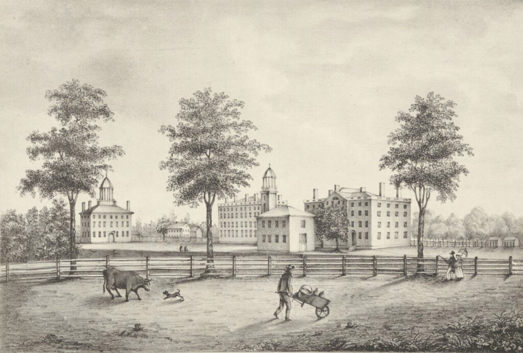 Southwest View of Bowdoin College, circa 1822