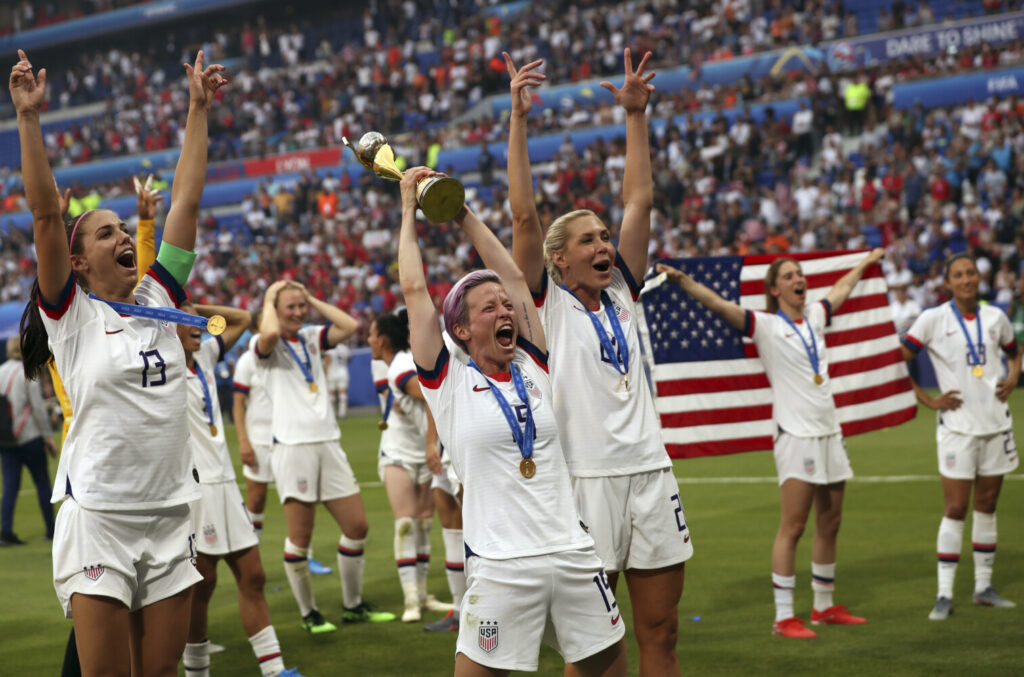 """The spokeswoman for the U.S. women's national team says, """"if the men had won as many times as the women they would have made three times or more the amount of bonuses the women did. Just because they are men."""""""