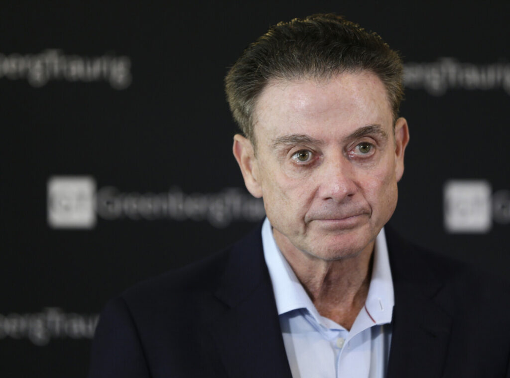 Former Lousiville men's basketball coach Rick Pitino is cited in a notice of allegations from the NCAA against the school for failing to promote an atmosphere of compliance.
