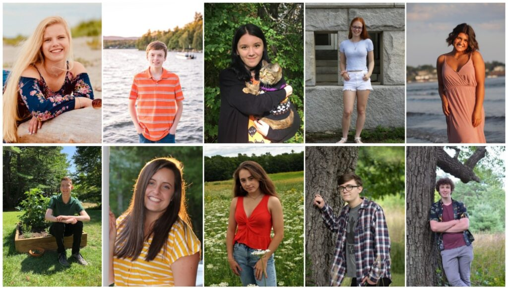 Erskine Academy in South China has announced its top 10 seniors for the class of 2020. Top from left are Sarah Jarosz, Hunter Praul, Mina Raag-Schmidt, Summer Hotham and Lyndsie Pelotte. Bottom from left are Benjamin Lavoie, Lucy Allen, Jordan Linscott, Dominic Smith and Richard Winn.