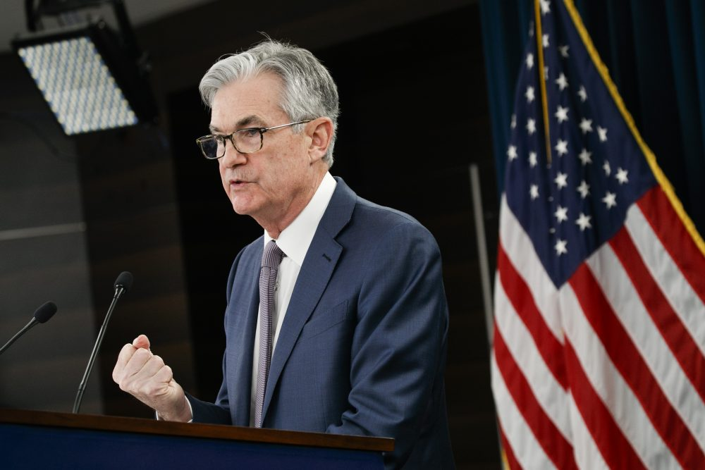 Federal Reserve Chair Jerome Powell speaks during a news conference March 3 in Washington.