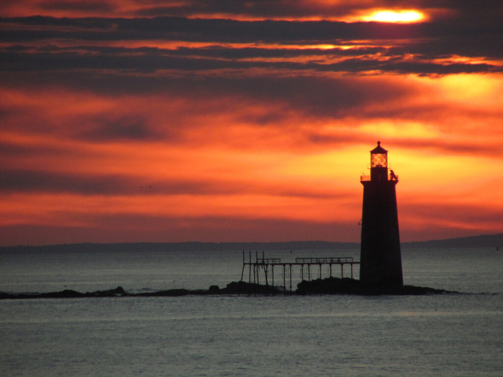 The sun rises Tuesday  at Fort Williams Park in Cape Elizabeth. The park opened Monday to pedestrians and cyclists, after being closed for more than a month because of coronavirus.