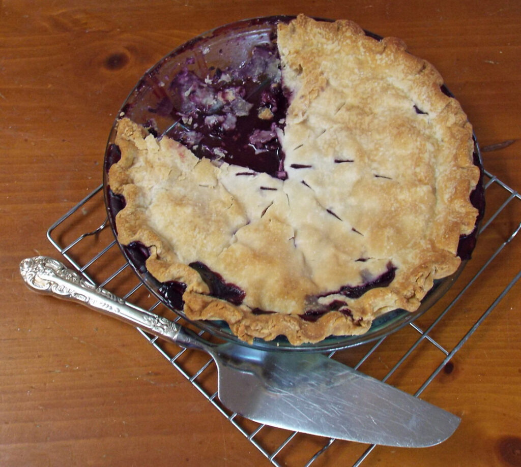 Lynn Young's blueberry pie.