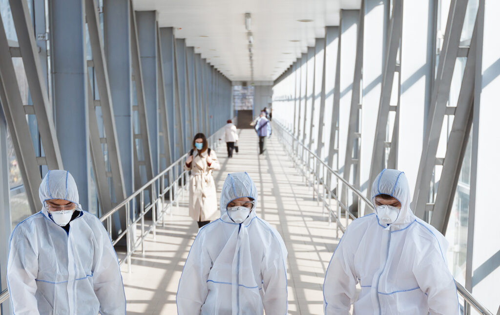 Protective clothing may be new travel wear