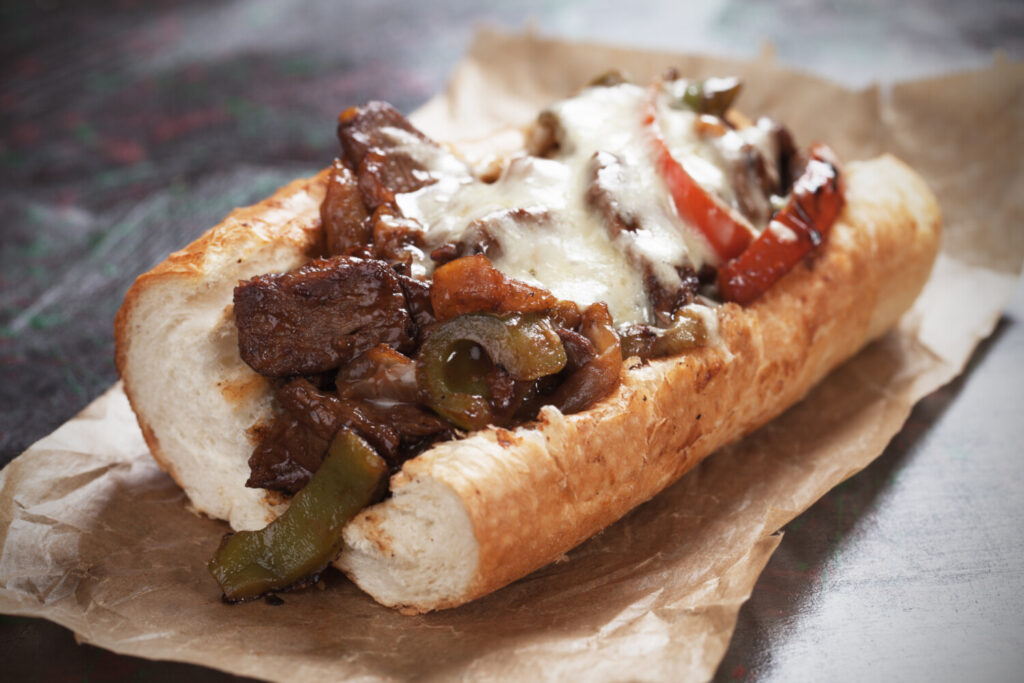 Support your local restaurants! But if you just have to have an authentic Philly cheesesteak, and are willing to spend to get it, there is an option.