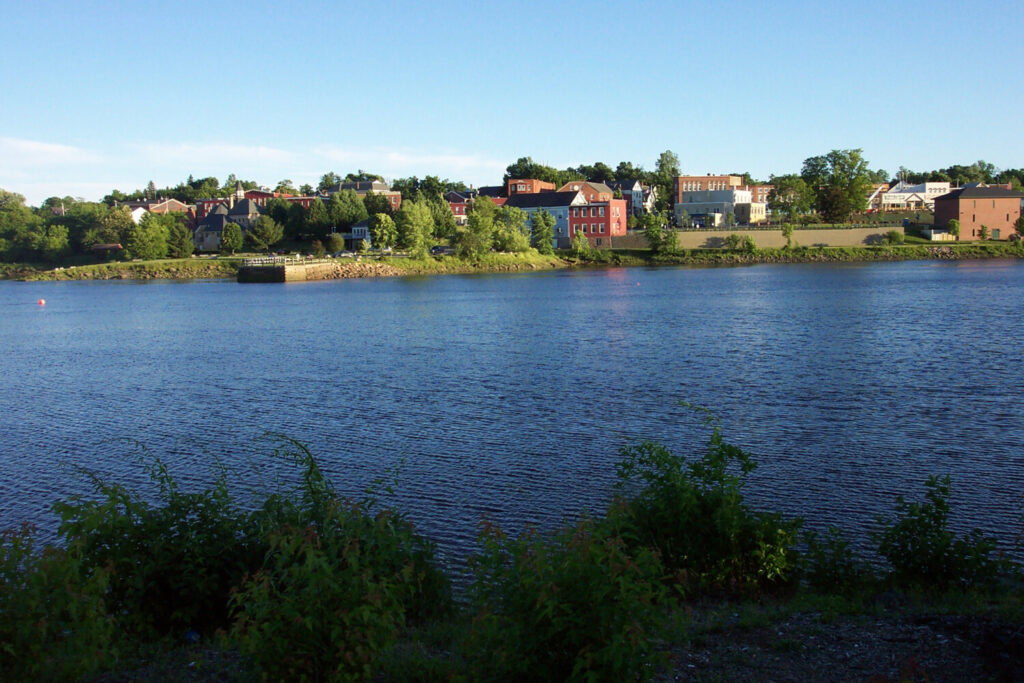 Looking across the St. Croix River from Canada to Calais