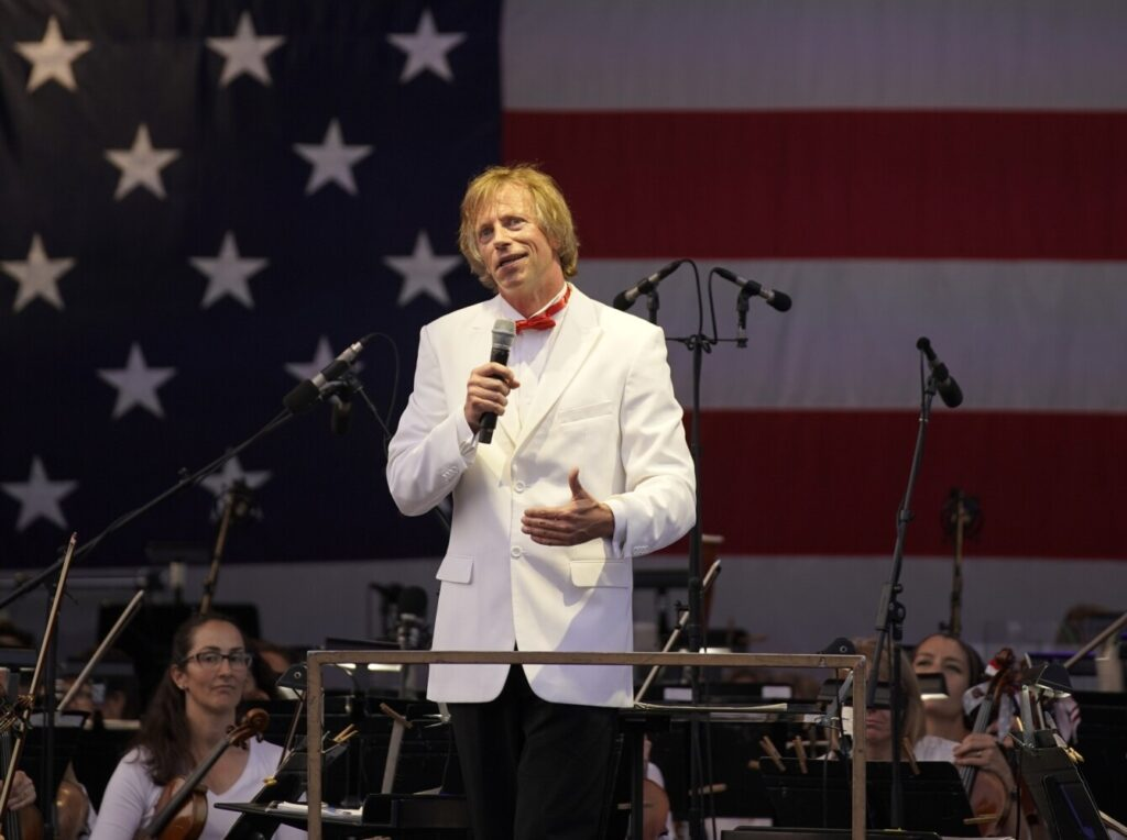 Eckart Preu and the Portland Symphony Orchestra will be part of the finale of a two-day virtual concert celebrating the Fourth of July in Maine.