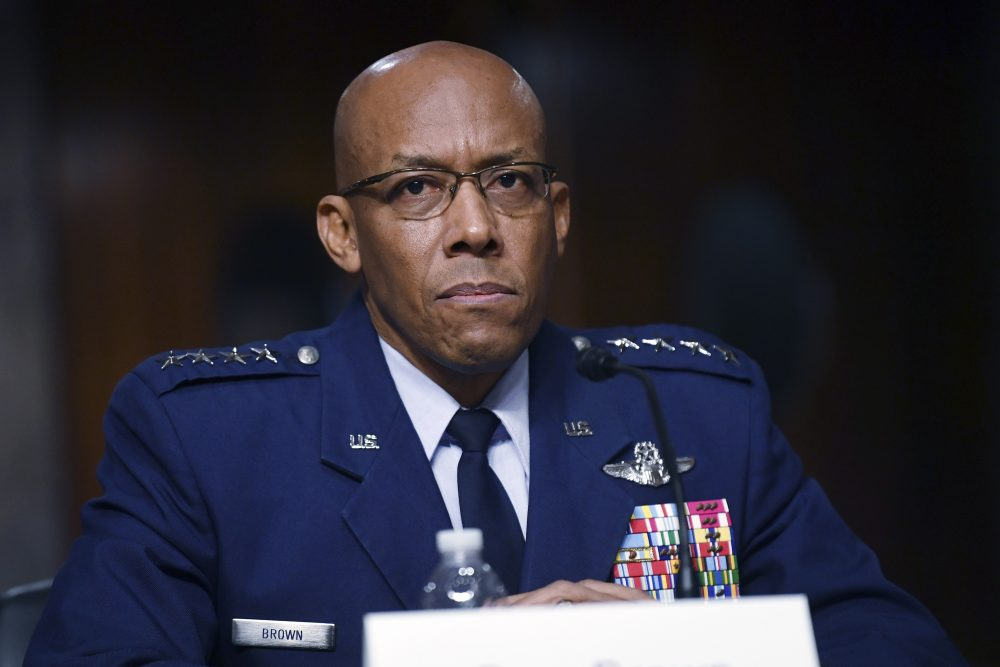 Gen. Charles Brown, Jr., was unanimously confirmed as chief of staff of the U.S. Air Force, making him the first black officer to lead one of the nation's military services.