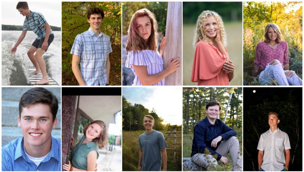 Messalonskee High School has announced its top 10 students for the class of 2020. Top from left are Cameron Croft, Martin Guarnieri, Lauren Bourque, Alexa Brennan and Mackenzie Mayo. Bottom from left are Benjamin Hellen, Hanna Lavenson, Travis Hosea, Alexander Pierce and Tucker Charles.