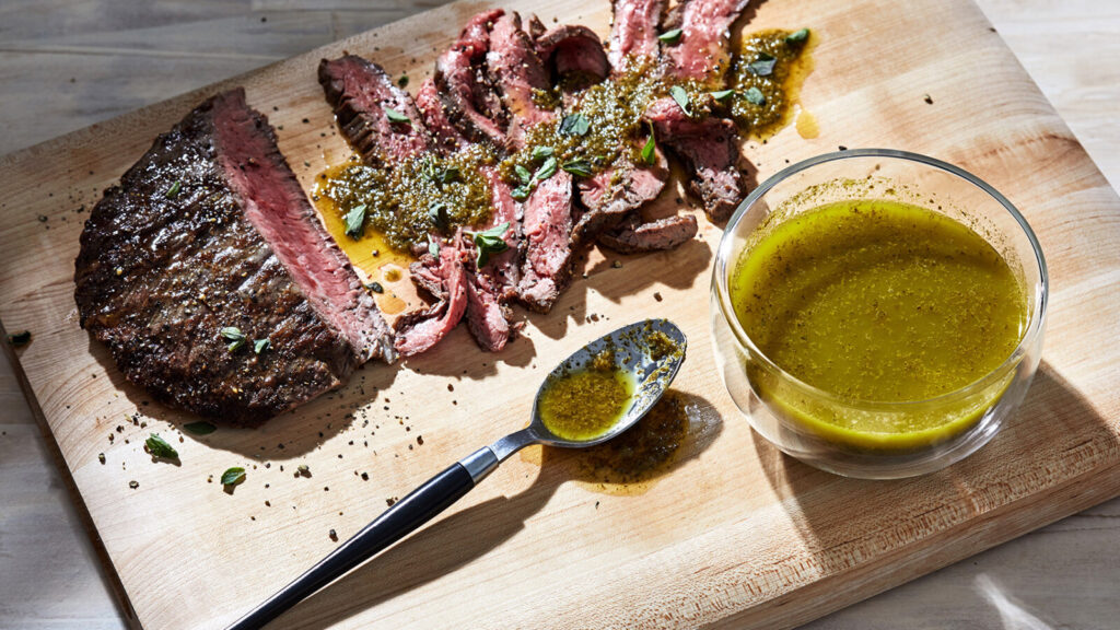 Too much of a good thing? Wolfgang Puck's Chimichurri is one of many ways to use up an abundance of herbs.