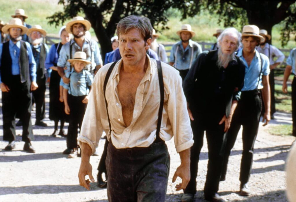 "Harrison Ford in ""Witness."""
