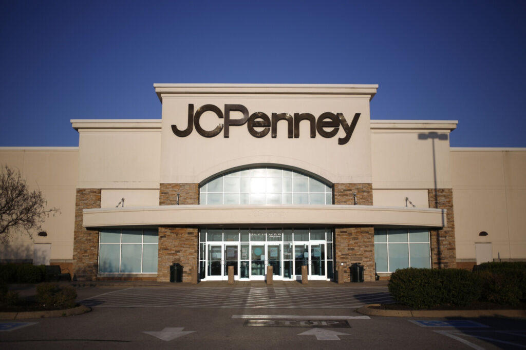 A closed JC Penney store stands in Mt. Juliet, Tennessee, on April 16. J. Crew, Neiman Marcus, JC Penney, Tuesday Morning and Stage Stores have all filed for bankruptcy.