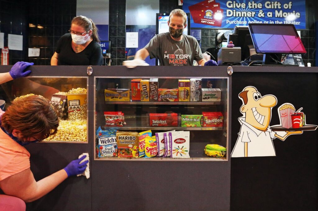 Smitty's Cinemas in Windham re-opened last week, while Cinemagic has delayed its reopening.