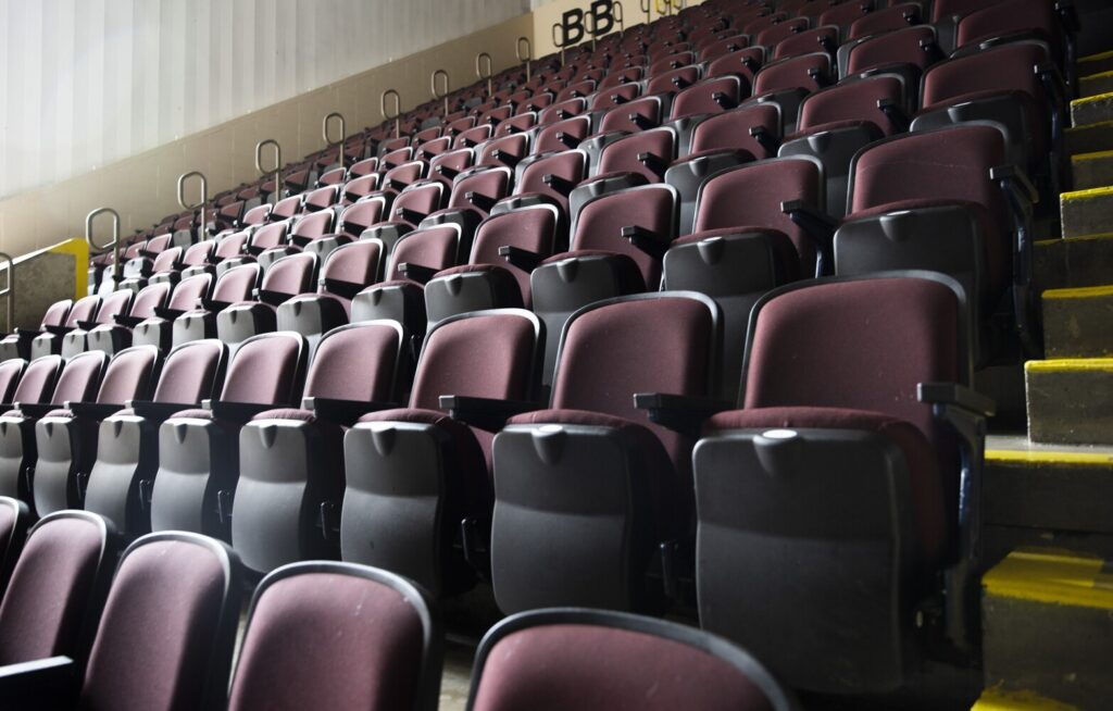 PORTLAND, ME - JULY 10: Empty seats at Cross Insurance Arena. (Staff photo by Derek Davis/Staff Photographer)