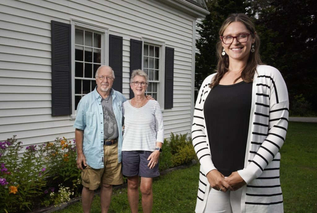 Howard and Sheryl Search looked for about a year for a house to buy in Maine. Just recently, their agent, L. Ryan Haggerty of Roxanne York Real Estate on Bailey Island, helped them find a home in Brunswick. They are now under contract to buy the home.