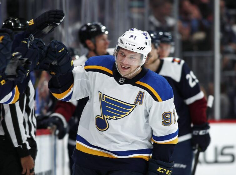 Tarasenko out for remainder of Western First Round for Blues