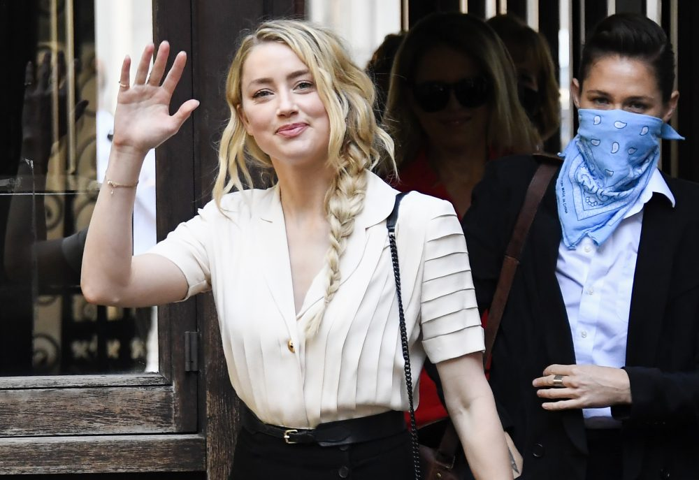 Amber Heard arrives at the High Court in London on Monday.  Heard began her testimony as part of Johnny Depp's libel case against The Sun over allegations of domestic violence during the couple's relationship.