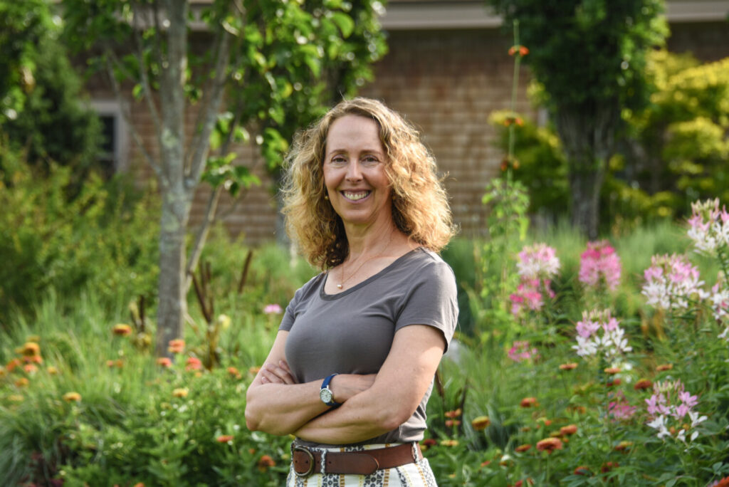 Gretchen Ostherr has just been named president and CEO of the Maine Coastal Botanical Gardens in Boothbay Harbor. She previously was director of L.L. Bean's Outdoor Discovery Programs.