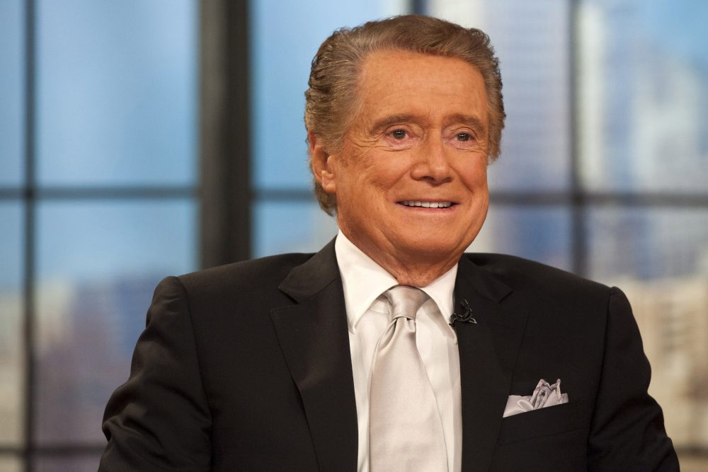 "Regis Philbin appears on his farewell episode of ""Live! with Regis and Kelly,"" Nov. 18, 2011, in New York."