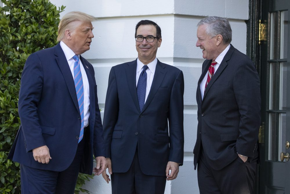 Donald Trump, Steven Mnuchin, Mark Meadows