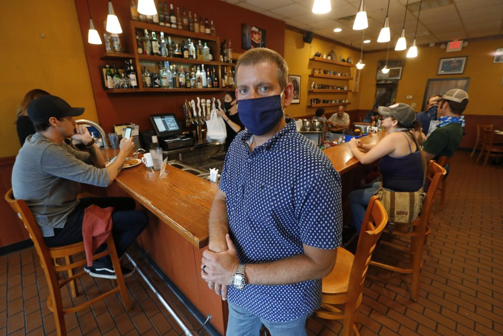 Nick Gavrilides is the owner of the Soup Spoon Cafe in Lansing, Mich. He tried to submit a claim for $650,000 for two months of losses that he said he suffered at two his restaurants, but was denied. Gavrilides is  serving customers inside both restaurants but only at half capacity.