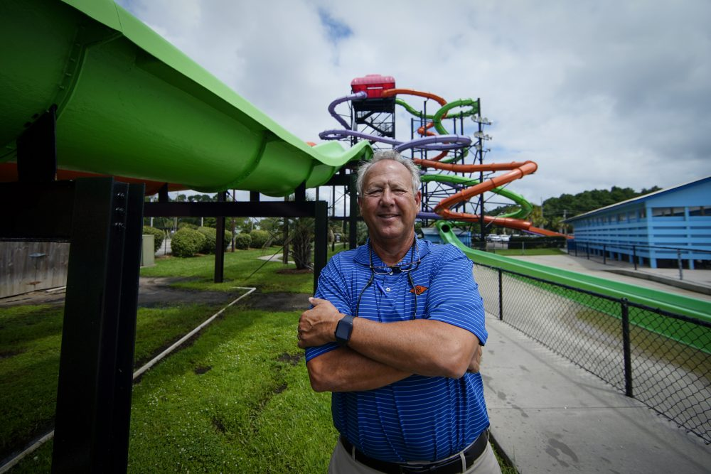 Mark Lazarus is the president and owner of Lazarus Entertainment Group in Myrtle Beach, S.C. He employs 1,000 workers at his three theme parks. About 150 of those are usually J-1 visa holders but none came this year.