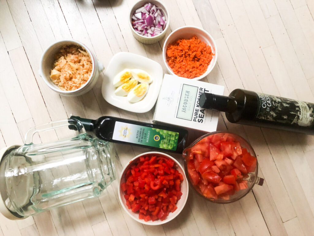 Count the blender as a key ingredient to gazpacho.