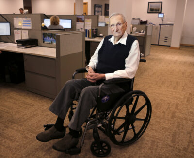 Woodrow Cross, who founded his company in 1954, was still going to the office in Bangor a few times a week in 2017.