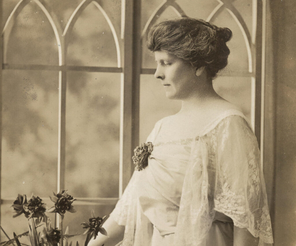 Mrs. Robert Treat Whitehouse of Portland, Chairman of the Maine Branch of the National Woman's Party, ca. 1916.