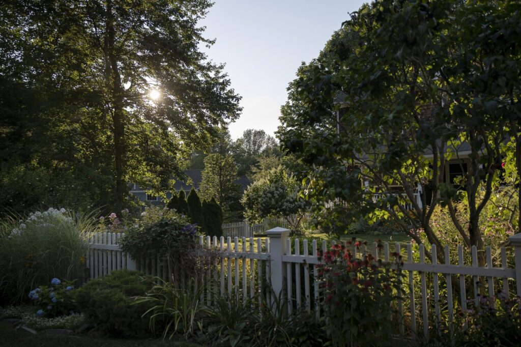 A garden in Cape Elizabeth. Gardens help fight climate change, feed the hungry and provide good exercise to the gardener.
