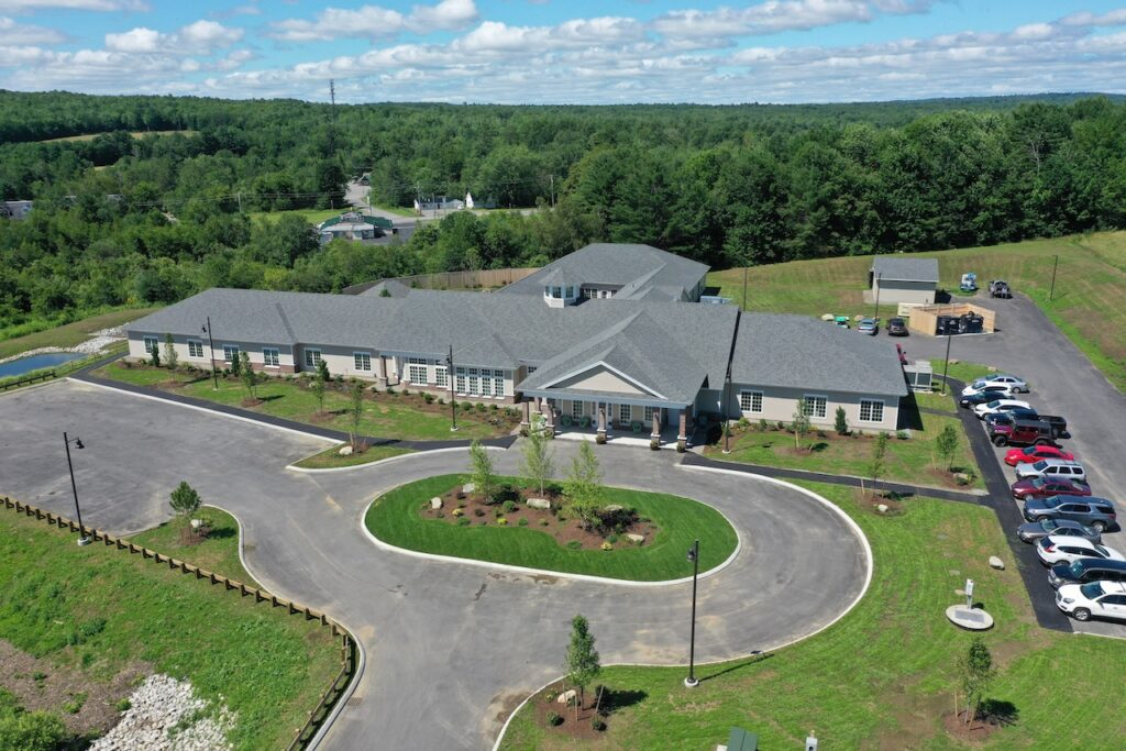Aerial view of Woodlands Memory Care of Madison