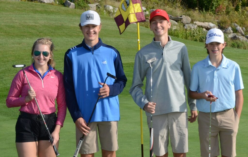 Big Brothers and Big Sisters  from left, Brooke Martin, Mason Violette, James Smith and Jude Lilly participate in last year's Golf Fore Kids' Sake tournament. Registration is open for two 2020 Golf Fore Kids' Sake tournament fundraisers. The first is held Sept. 4 at Belgrade Lakes Golf Course and a second Sept. 25 at Samoset Resort Golf Club in Rockport. All proceeds will support Big Brothers Big Sisters of Mid-Maine local youth mentoring specifically during the COVID-19 Pandemic to help keep kids connected. For more information, visit bbbsmidmaine.org or call 207-236-2227.