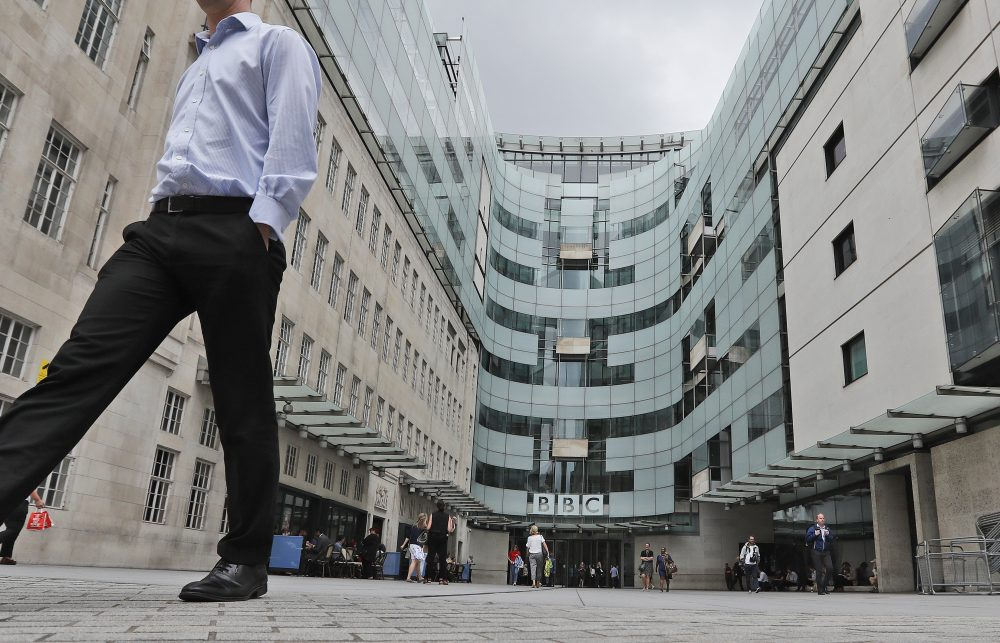 A British radio host quit the BBC over the corporation's decision to include a racial slur in a news report about a racist attack last month.