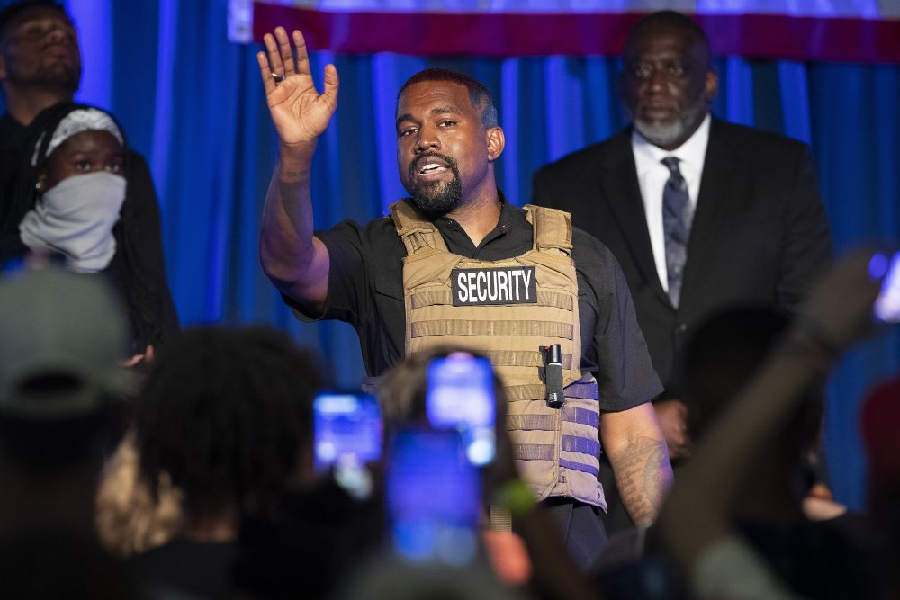 Kanye West makes his first presidential campaign appearance July 19, in North Charleston, S.C.