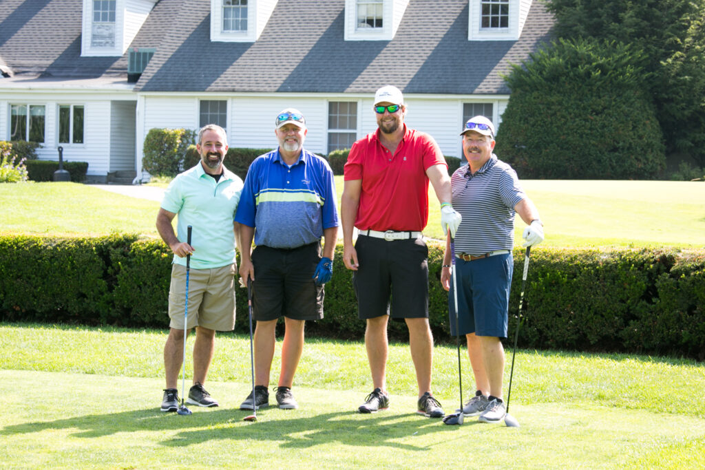 Goose River Holdings, the 1st gross winning team, from left are Heath Commeau, Dan Benson, Dan Dalfonso and Jeff Seavey.