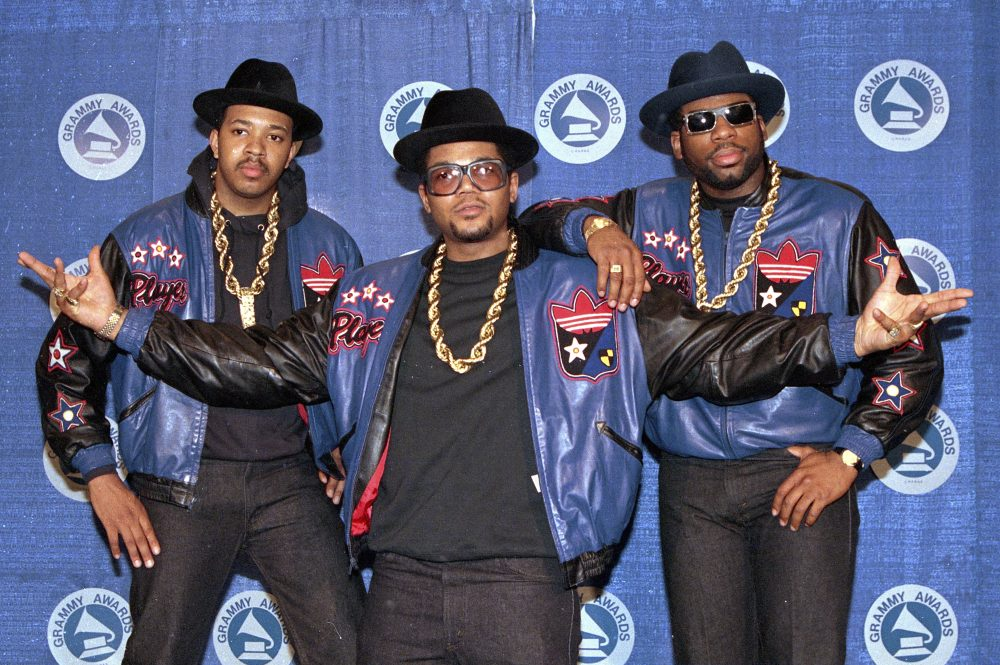 "Joseph ""Run"" Simmons, Darryl ""DMC"" McDaniels, and Jason Mizell ""Jam Master Jay,""  at the 31st annual Grammy Awards in New York on March 2, 1988.  Two suspects have been indicted in the 2002 killing of Jam Master Jay, which until now had been one of New York City's most notorious unsolved killings, according to two law enforcement officials."