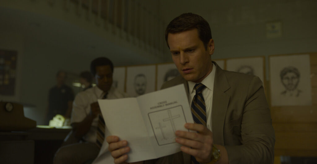 "Jonathan Groff in a scene from the Netflix series ""Mindhunter."" The show's director of photography is Erik Messerschmidt, a Maine native."