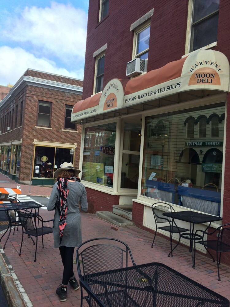 Around lunchtime in Bangor, there's usually someone - if not a crowd - waiting for an order Harvest Moon Deli's curbside.