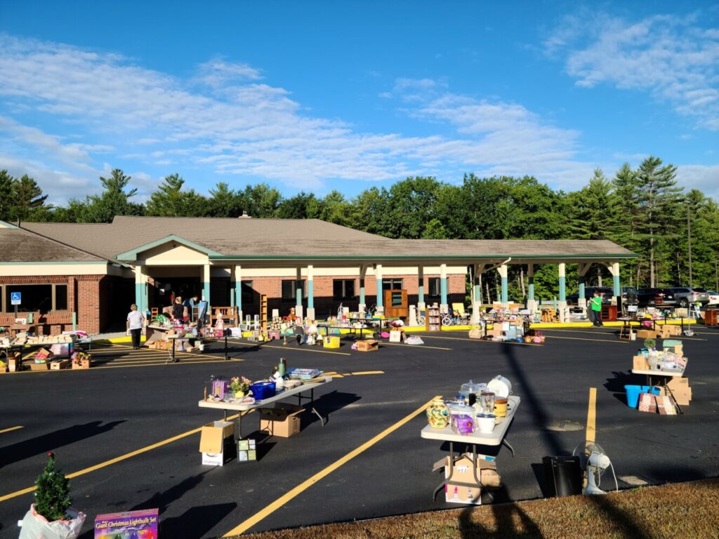OTIS Federal Credit Union in Jay held a yard sale Aug. 22 in its member parking lot to raise money for the Maine Credit Unions' Campaign for Ending Hunger. Eight employees volunteered their time.