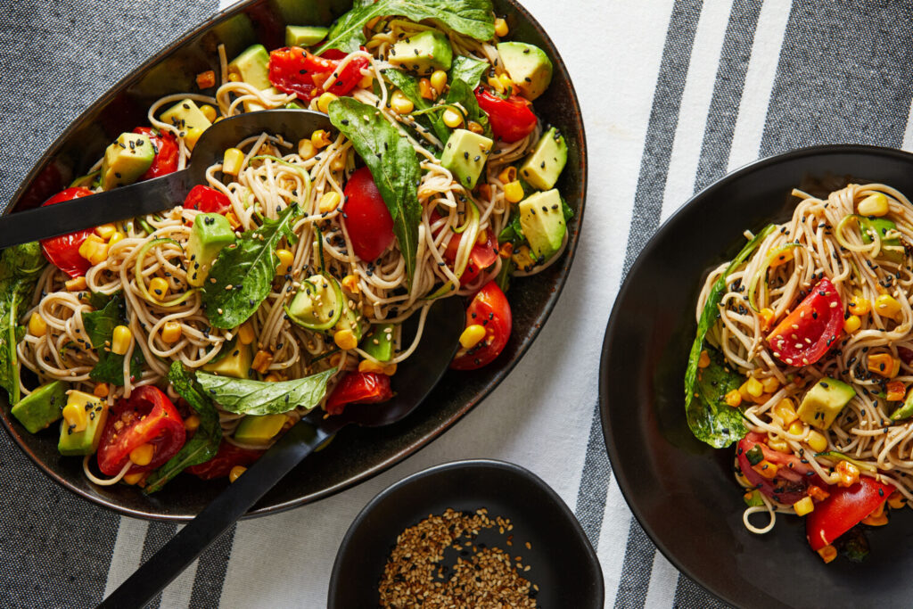 Summer Noodle Salad with Ginger-Garlic Dressing
