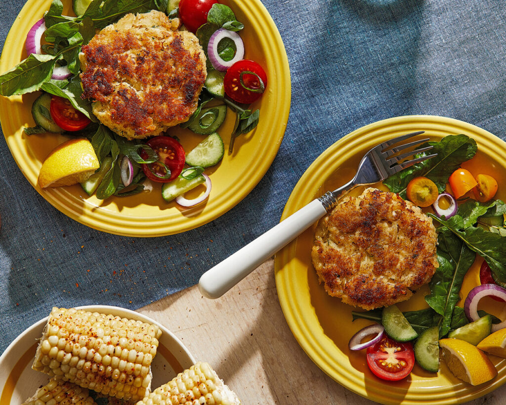 Crab Cakes with Lemon and Panko