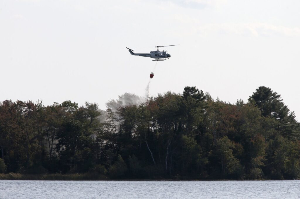 Brush fires break out in Cape Elizabeth and Falmouth