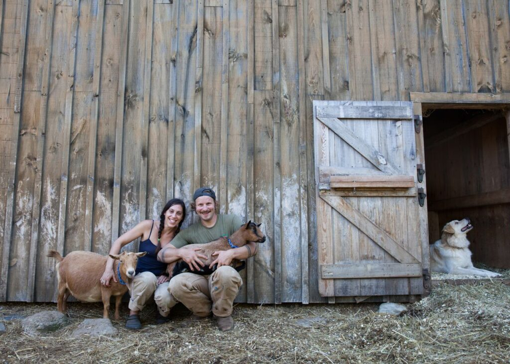 Christelle and Jon McKee of Copper Tail Farm in Waldoboro.