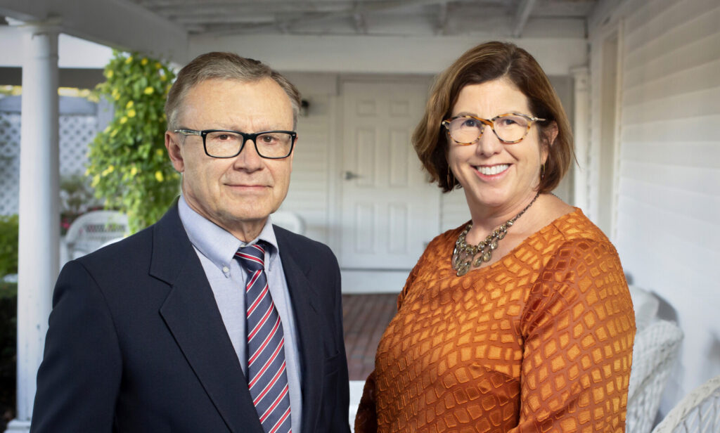 Steve McCausland, new communications specialist, with Nancy Marshall, founder and CEO of Marshall Communications.