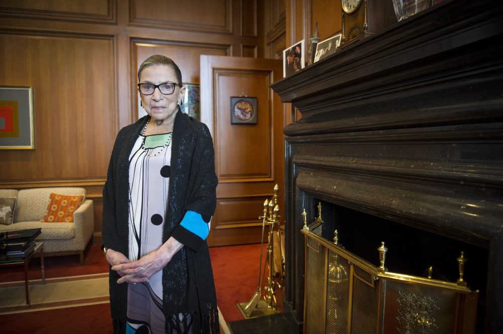 Associate Justice Ruth Bader Ginsburg is seen in her chambers in at the Supreme Court in Washington on July 31, 2014. She has died of metastatic pancreatic cancer at age 87.